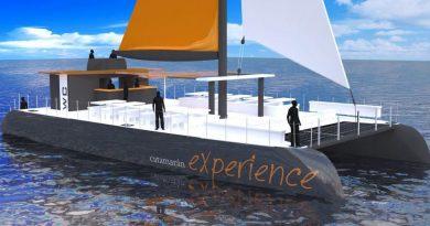 Boceto del futuro Catamarán de Albarco